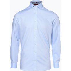 Finshley & Harding - Koszula męska, niebieski. Niebieskie koszule męskie na spinki Finshley & Harding, m, z bawełny, z włoskim kołnierzykiem. Za 179,95 zł.