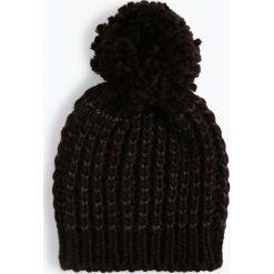 ONLY - Czapka damska – Tibana, czarny. Szare czapki damskie marki ONLY, s, z bawełny, z okrągłym kołnierzem. Za 59,95 zł.