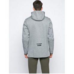 Puma - Bluza. Szare bluzy męskie rozpinane marki Puma, l, z bawełny, z kapturem. W wyprzedaży za 199,90 zł.