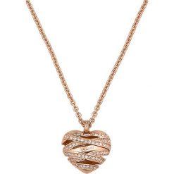 Naszyjniki damskie: Naszyjnik w kolorze różowego złota z zawieszką – (D)71 cm
