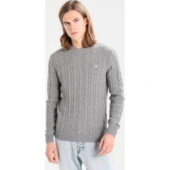 Swetry klasyczne męskie: Jack Wills MARLOW CABLE CREW NECK Sweter grey marl