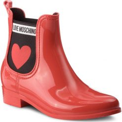 Kalosze LOVE MOSCHINO - JA21013G16IJ0500 Rosso. Czerwone kalosze damskie Love Moschino, z materiału. Za 479,00 zł.
