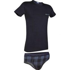 Męski komplet: T-shirt i slipy Enrico Coveri 1626SB. Szare slipy męskie marki S.Oliver, l, z bawełny, z włoskim kołnierzykiem, z długim rękawem. Za 73,99 zł.