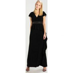 Adrianna Papell Długa sukienka black. Czarne długie sukienki marki Adrianna Papell, z elastanu, z długim rękawem. W wyprzedaży za 399,60 zł.