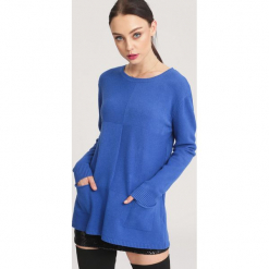 Niebieski Sweter Hope. Niebieskie swetry klasyczne damskie other, l. Za 79,99 zł.