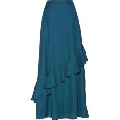 Spódnica szyfonowa bonprix niebieskozielony morski. Zielone spódniczki bonprix, w paski, z szyfonu. Za 109,99 zł.