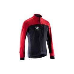 Kurtka na rower MTB XC. Czarne kurtki męskie B'TWIN, m, z elastanu. Za 219,99 zł.