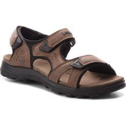 Sandały LANETTI - MS17011-1 Brązowy. Brązowe sandały męskie skórzane Lanetti. Za 79,99 zł.