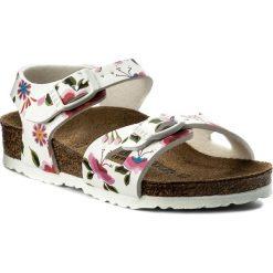 Sandały dziewczęce: Sandały BIRKENSTOCK – Rio Kids 1008372 China FLowers White