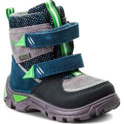 Buty zimowe chłopięce: Śniegowce BARTEK – 21759/0UJT Niebieski Szary Zielony