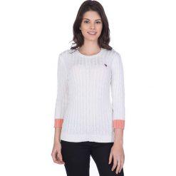 """Swetry klasyczne damskie: Sweter """"Musselburgh"""" w kolorze kremowym"""