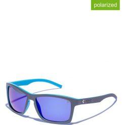 Okulary przeciwsłoneczne męskie lustrzane: Okulary męskie w kolorze szaro-niebieskim