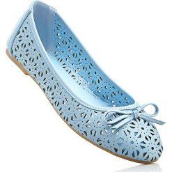 Baleriny damskie: Baleriny w 2 szerokościach bonprix jasnoniebieski