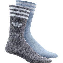 Bielizna męska: Adidas Skarpety męskie Solid Crew Socks Melange 2 Pack niebieskie r. 43 – 46 (BK2384)