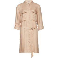 Długie sukienki: Sukienka z koszulowym kołnierzykiem, krótki rękaw