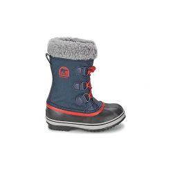Śniegowce Dziecko Sorel  YOOT PAC NYLON. Niebieskie buty zimowe chłopięce Sorel, z nylonu. Za 263,20 zł.