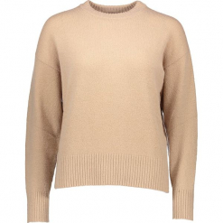 Sweter w kolorze beżowym. Brązowe swetry klasyczne damskie Gottardi, s, z wełny, z okrągłym kołnierzem. W wyprzedaży za 195,95 zł.