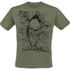 T-shirty męskie: Attack On Titan Breaking The Wall T-Shirt khaki
