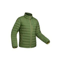 Kurtka trekkingowa Trek 900 męska. Zielone kurtki męskie puchowe marki FORCLAZ, m, z materiału. Za 249,99 zł.