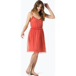 Vila - Sukienka damska – Vimindy, czerwony. Czerwone sukienki na komunię marki Vila, z tiulu, z falbankami. Za 69,95 zł.