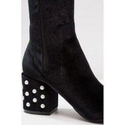 BEBO BENZ Muszkieterki black. Czarne buty zimowe damskie BEBO, z materiału. Za 249,00 zł.