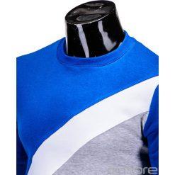 BLUZA MĘSKA BEZ KAPTURA ERICO B575 - NIEBIESKA. Niebieskie bluzy męskie marki Ombre Clothing, m, z bawełny, bez kaptura. Za 59,00 zł.
