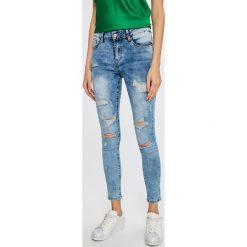 Answear - Jeansy. Niebieskie jeansy damskie ANSWEAR. W wyprzedaży za 79,90 zł.