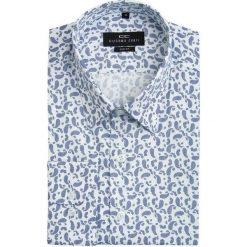 Koszula SIMONE slim KDBS000056. Białe koszule męskie na spinki Giacomo Conti, m, paisley, z bawełny. Za 259,00 zł.