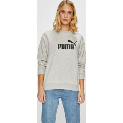 Puma - Bluza. Szare bluzy z nadrukiem damskie Puma, l, z bawełny, bez kaptura. W wyprzedaży za 169,90 zł.