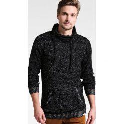 Swetry klasyczne męskie: Shine Original HIGH COLLAR MIX YARN Sweter black mix