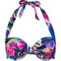 Biustonosz bikini z kolorowym wzorem. Szare biustonosze z fiszbinami marki Esprit. W wyprzedaży za 130,95 zł.