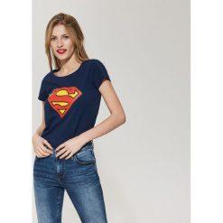 T-shirty damskie: T-shirt superman – Granatowy