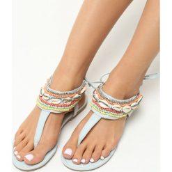 Sandały damskie: Jasnoniebieskie Sandały Incredulous