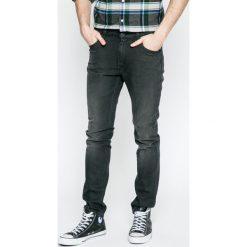 Lee - Jeansy Rider. Szare jeansy męskie slim Lee, z aplikacjami, z bawełny. W wyprzedaży za 269,90 zł.