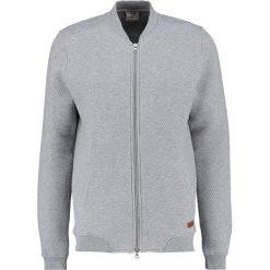 Swetry rozpinane męskie: Knowledge Cotton Apparel ZIP Kardigan grey melange