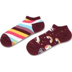 Skarpety Niskie Unisex MANY MORNINGS - The Unicorn Low Fioletowy Kolorowy. Czerwone skarpetki męskie marki Happy Socks, z bawełny. Za 19,00 zł.