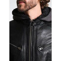 Oakwood COCKTAIL Kurtka skórzana black. Czarne kurtki męskie skórzane marki Reserved, l. Za 1089,00 zł.