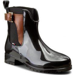 Kalosze TOMMY HILFIGER - Oxley 2Z2 FW56822108 Black/Winter Cognac 990. Czarne buty zimowe damskie TOMMY HILFIGER, z materiału. Za 399,00 zł.