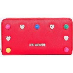 Love Moschino - Portfel. Czerwone portfele damskie Love Moschino, z materiału. W wyprzedaży za 369,90 zł.