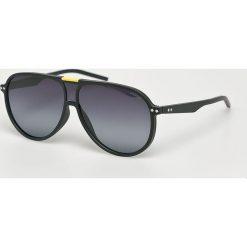 Polaroid - Okulary 233623. Brązowe okulary przeciwsłoneczne męskie aviatory Polaroid, z materiału. Za 339,90 zł.