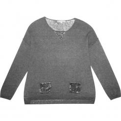 Sweter jedwabny w kolorze szarym. Szare swetry klasyczne damskie marki Ateliers de la Maille, z jedwabiu, z okrągłym kołnierzem. W wyprzedaży za 318,95 zł.