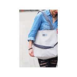 Shopper bag damskie: Duża torba typu shopper Mili Duo MD1 – light grey