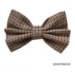 Mucha / Muszka Męska- VINTAGE COLLECTION No4 len. Brązowe muchy męskie Pakamera, z bawełny, vintage. Za 65,00 zł.
