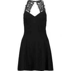 Sukienki: Missguided CREPE PLUNGE STRAPPY BACK DETAIL SKATER Sukienka koktajlowa black
