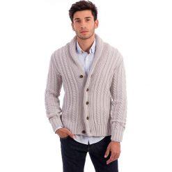 Sweter rozpinany w kolorze szarym. Szare kardigany męskie Polo Club, m, z dzianiny. W wyprzedaży za 295,95 zł.