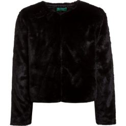 Benetton JACKET Kurtka przejściowa black. Czarne kurtki dziewczęce przejściowe marki Benetton, z materiału. Za 179,00 zł.