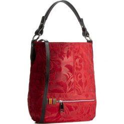 Torebka CREOLE - RBI10131  Czerwony Wzór/Czarny. Czerwone torebki klasyczne damskie Creole, ze skóry, duże. W wyprzedaży za 299,00 zł.