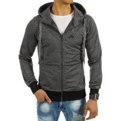 Bluzy męskie: Bluza męska z kapturem rozpinana antracytowa (bx2259)