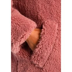 Płaszcze damskie pastelowe: Topshop B&&B BORG  Krótki płaszcz dustypink