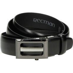 Pasek automat czarny k9 bez obszycia. Czarne paski męskie Recman, w paski, z jeansu, eleganckie. Za 69,00 zł.